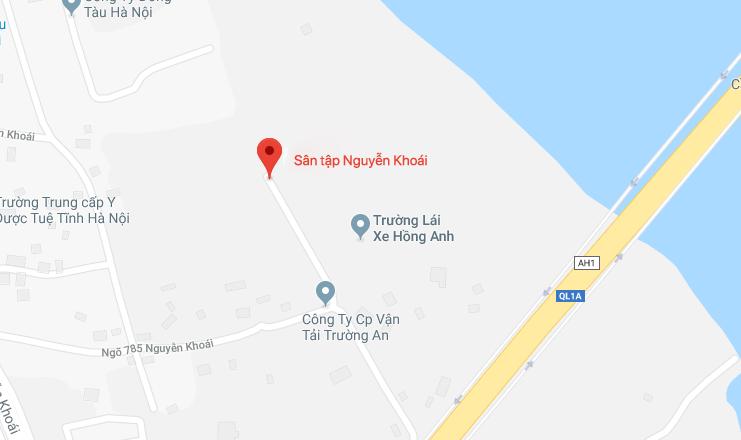 Địa chỉ sân tập lái xe Nguyễn Khoái
